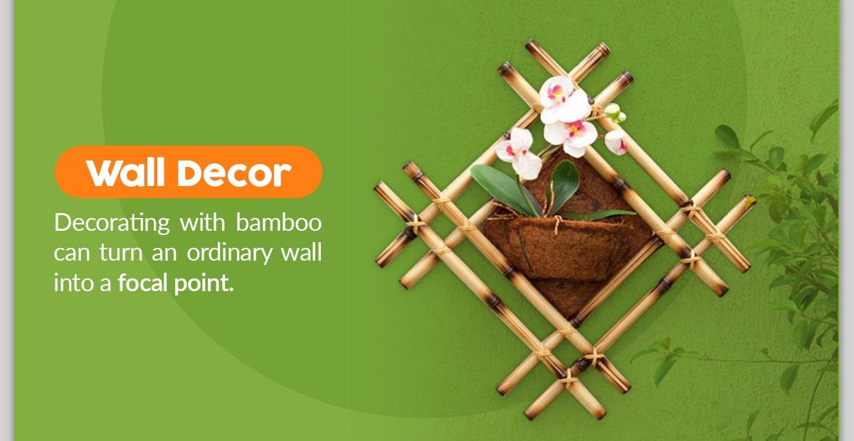 DIY Bamboo Wall Decor