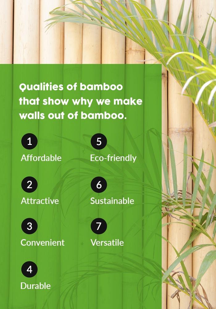 Bamboo walls benefits