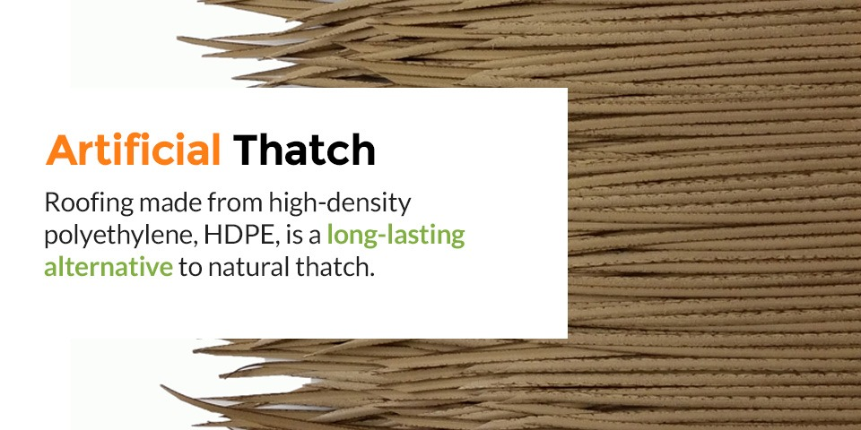 What is artificial thatch