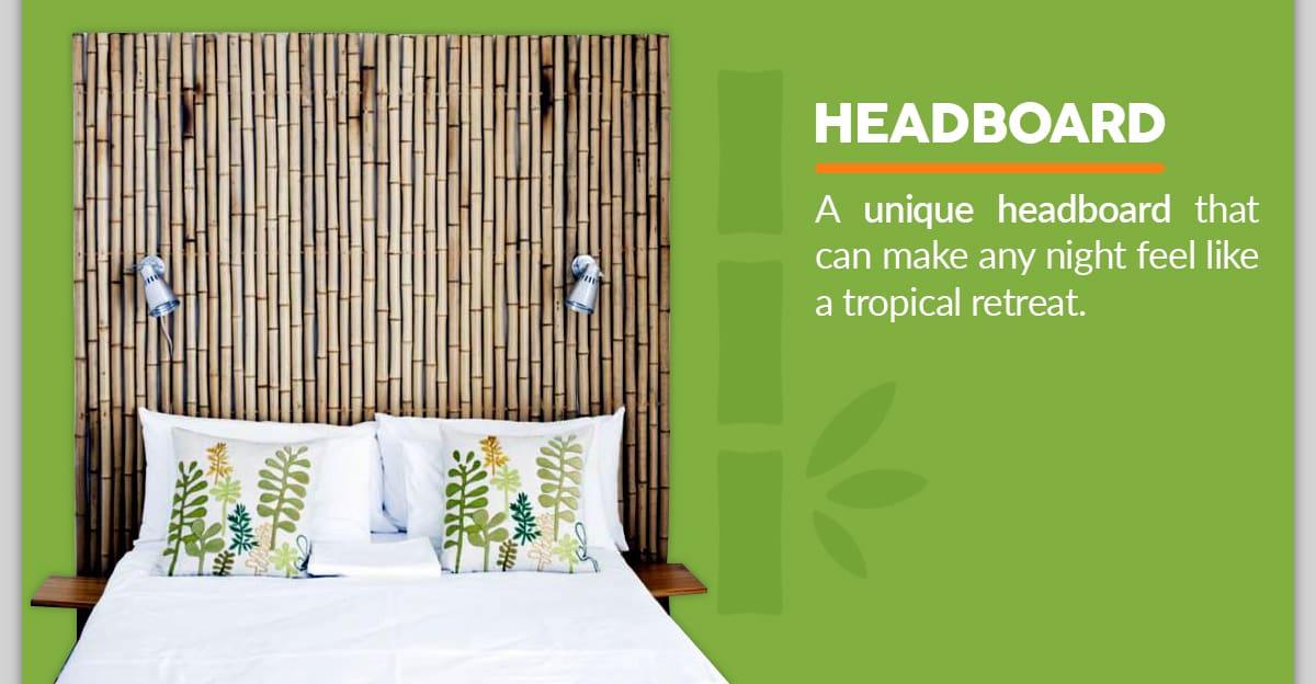 DIY Bamboo Headboard