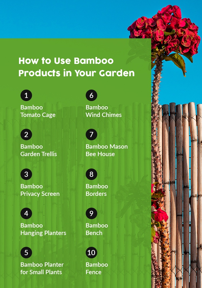 How to use bamboo products in your garden