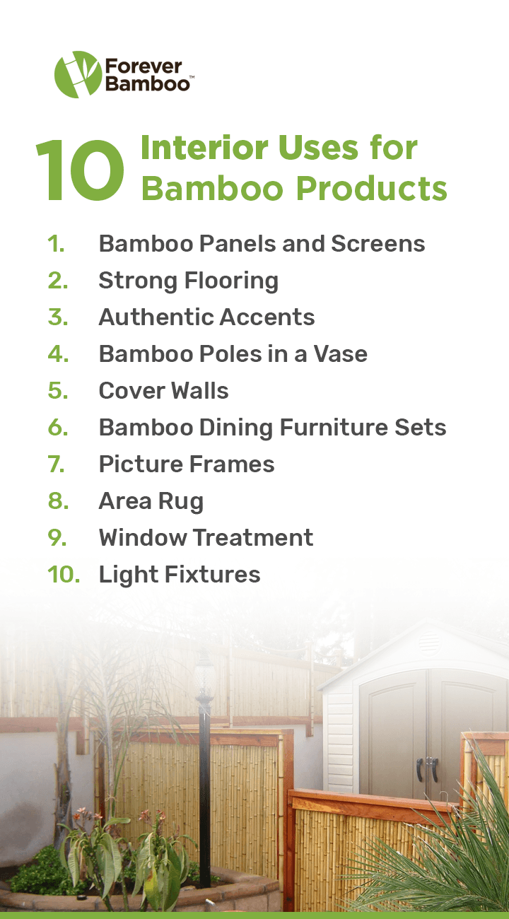 10 Interior Uses for Bamboo Products