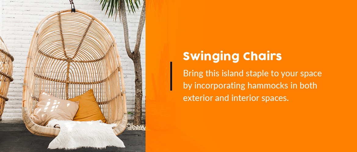 Tropical Swinging Chairs