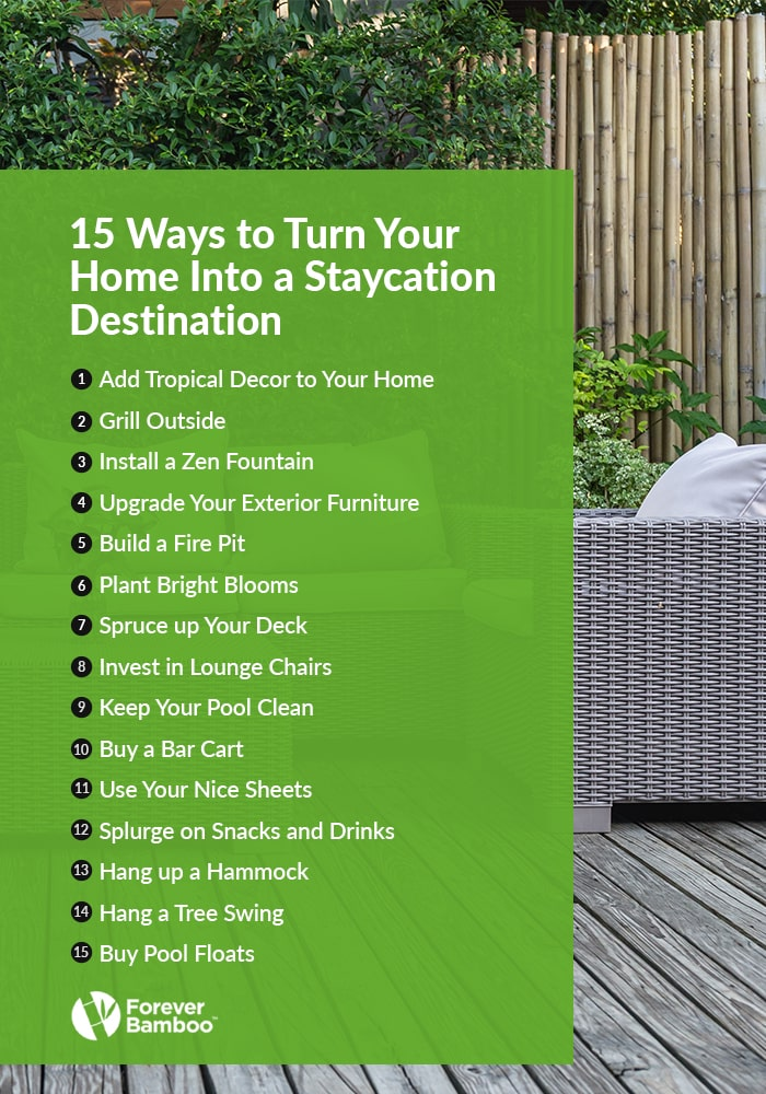 15 Ways to Turn Your Home Into a Staycation Destination
