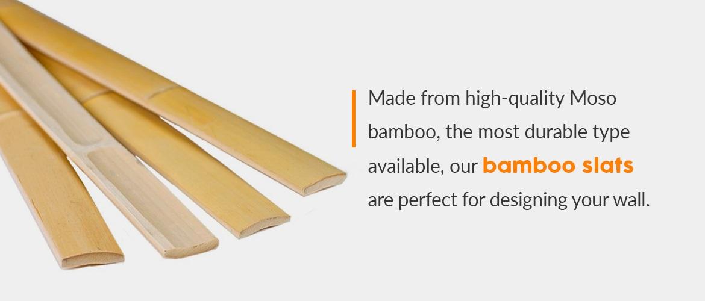 Moso bamboo slats