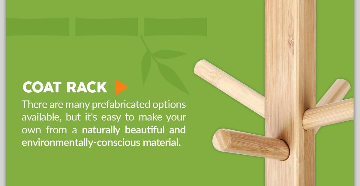 Bamboo Coat Rack DIY Project