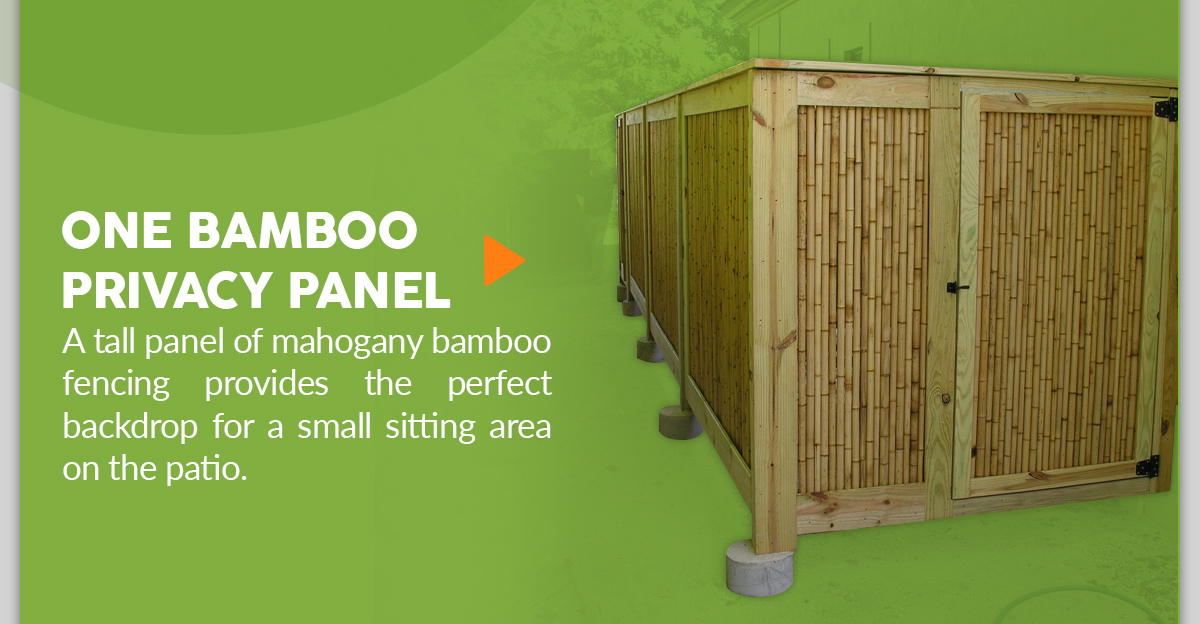 DIY Bamboo Privacy Panel Using Bamboo Fencing