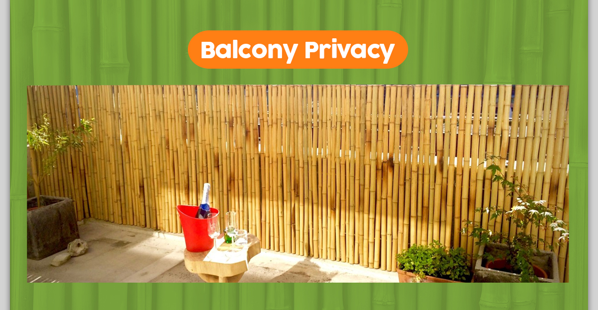 DIY Balcony Privacy Panel Using Bamboo Fence