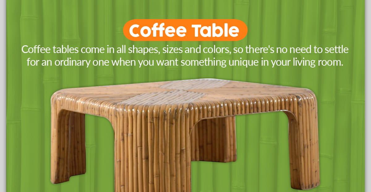 DIY Bamboo Coffee Table