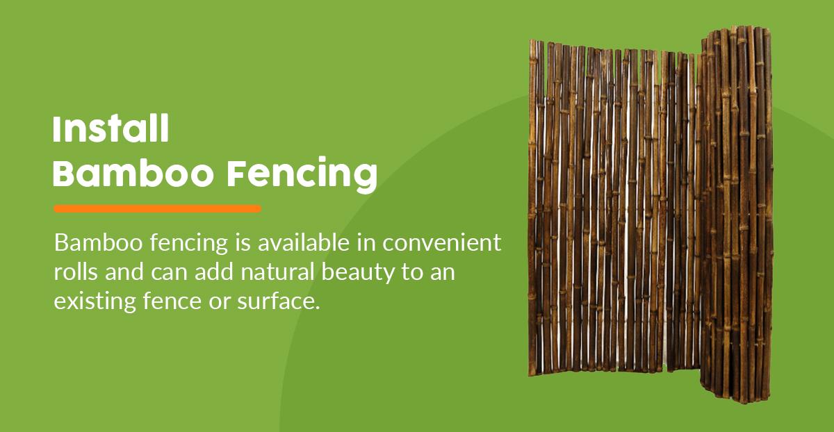 Tropical Backyard Bamboo Fencing