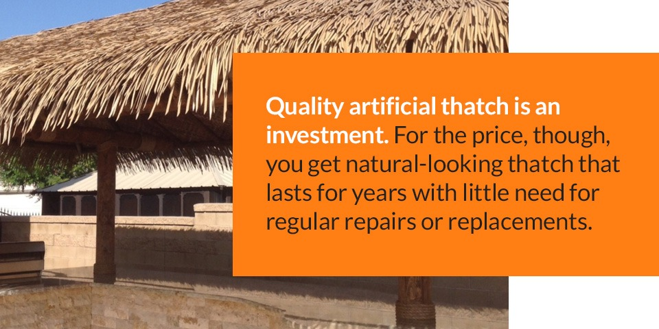High-quality artificial thatch