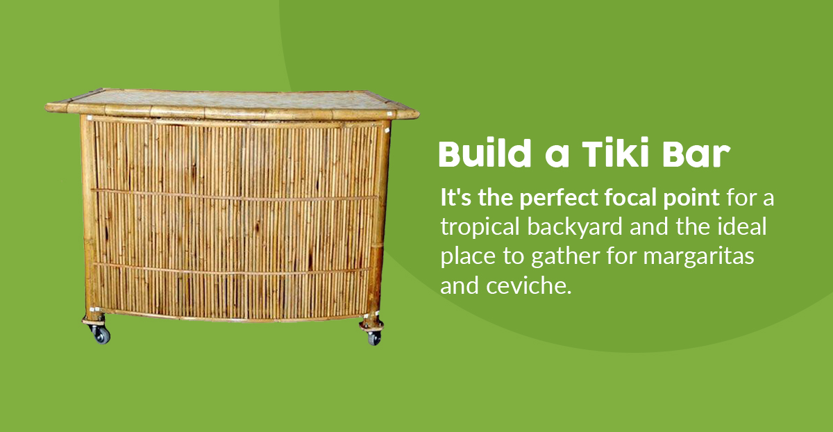 Tropical Tiki Bar in the Backyard