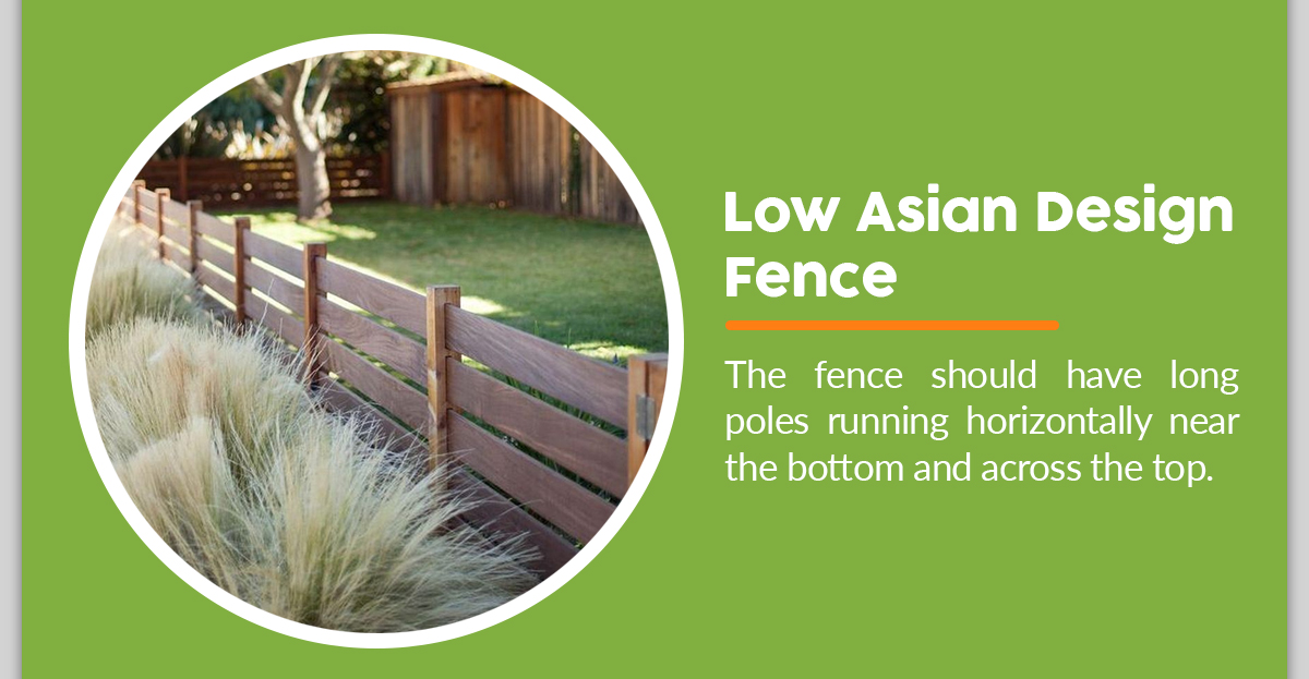 Low Asian Fence Design Made from Bamboo Fence DIY