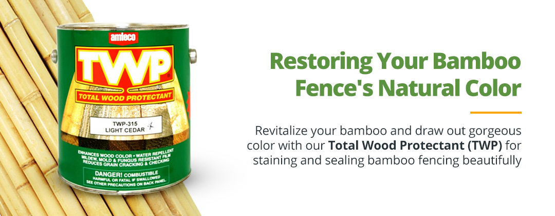 Restoring Bamboo Fence Color