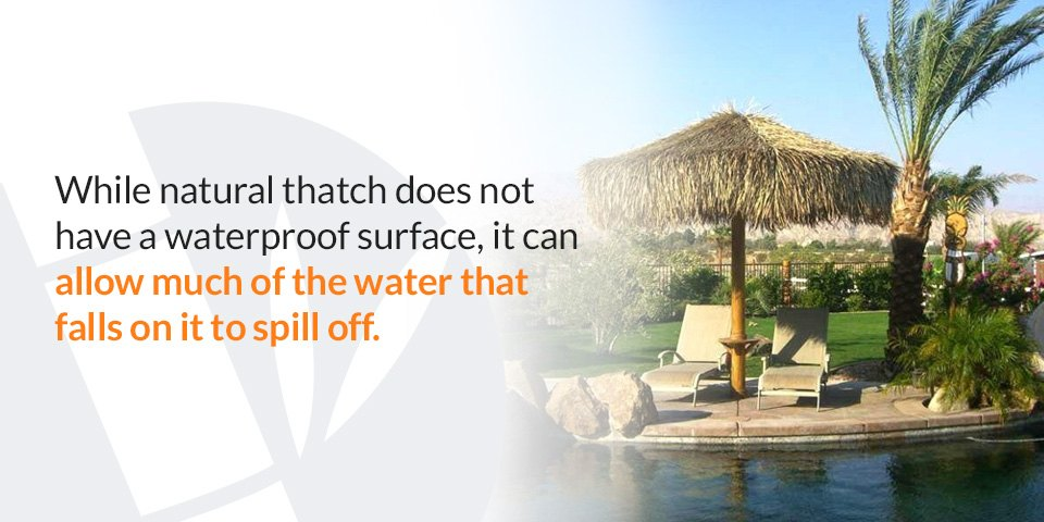 Water-resistant thatch roofing