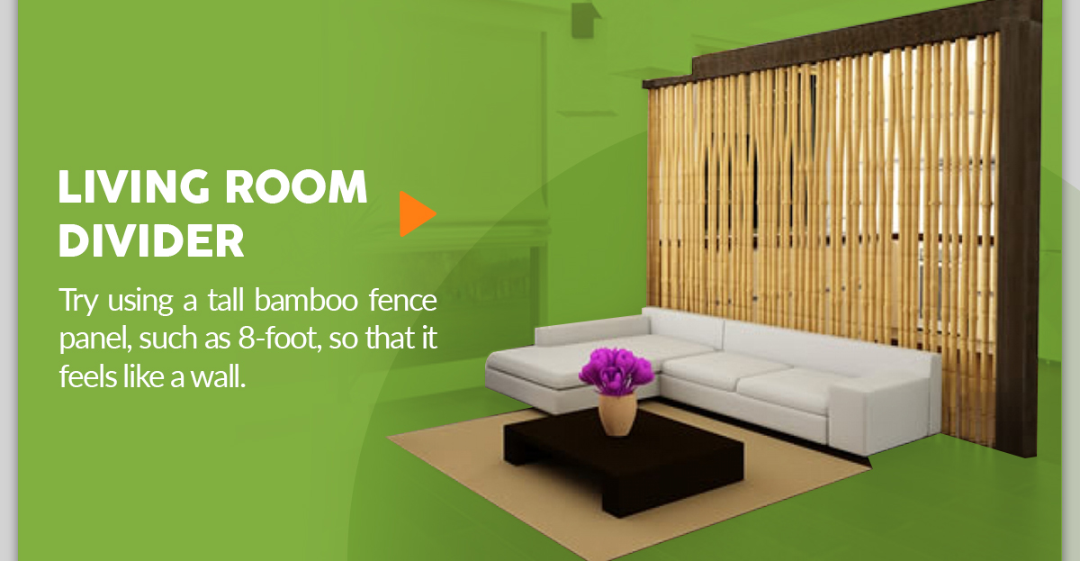 Bamboo Fence Living Room Divider DIY Project