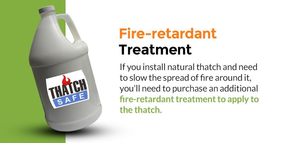 Fire-retardant thatch