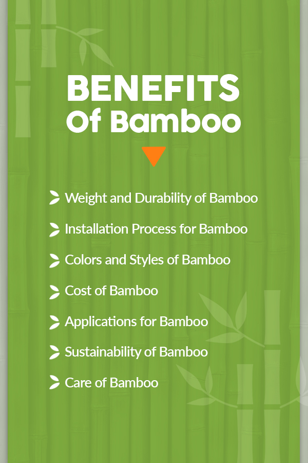 Benefits of Using Bamboo