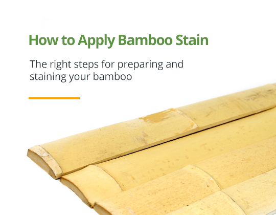 How to Apply Bamboo Stain
