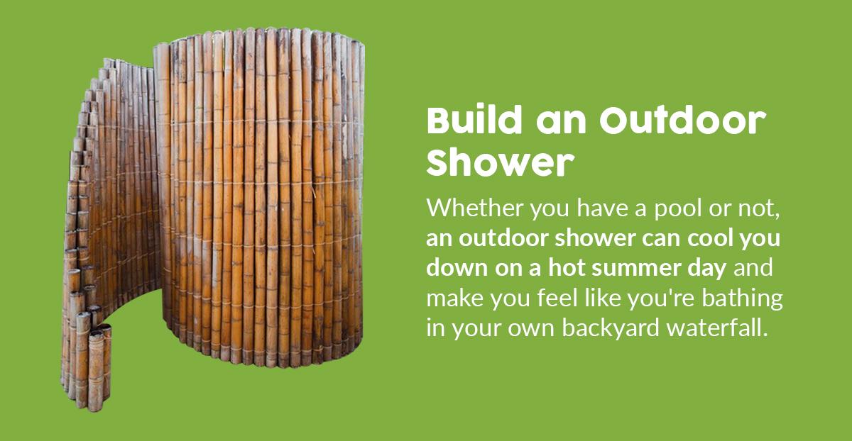 DIY Outdoor Shower in the Backyard