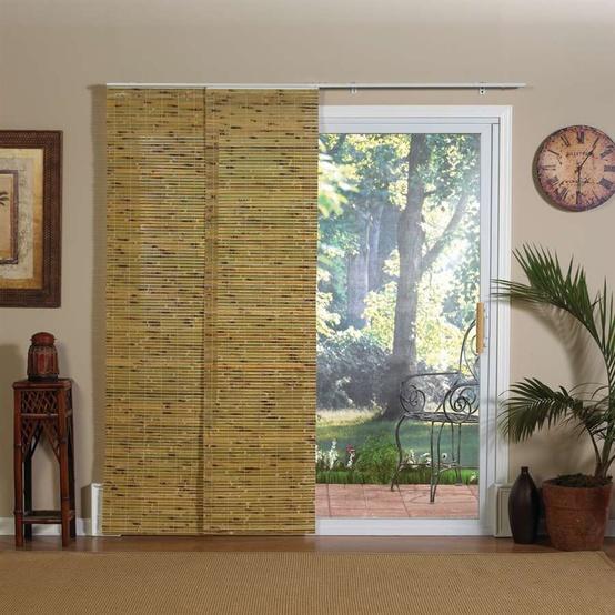 bamboo paneling sliding door