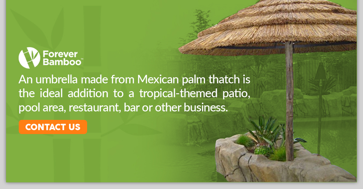 Forever Bamboo Mexican Thatch Umbrellas