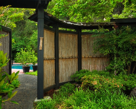 bamboo fencing walkway