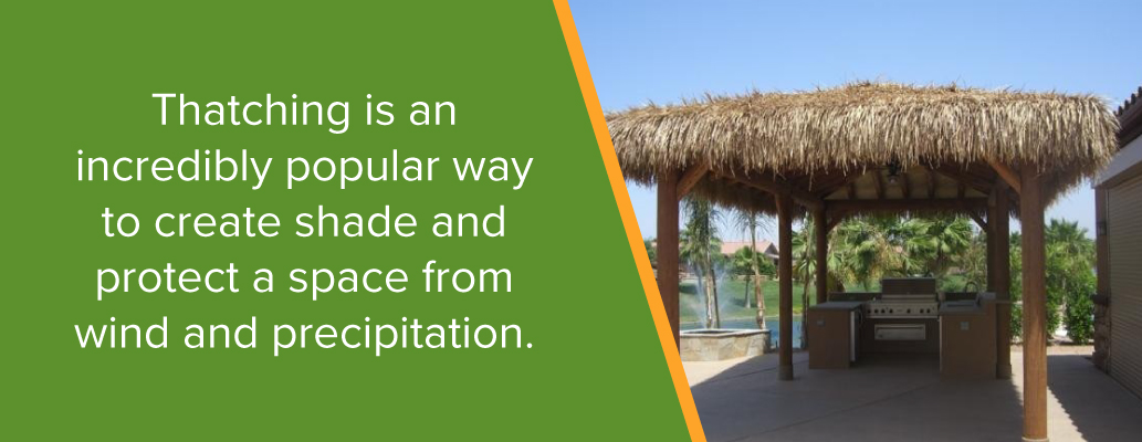 Give Shade to Outdoor Space Using Thatch