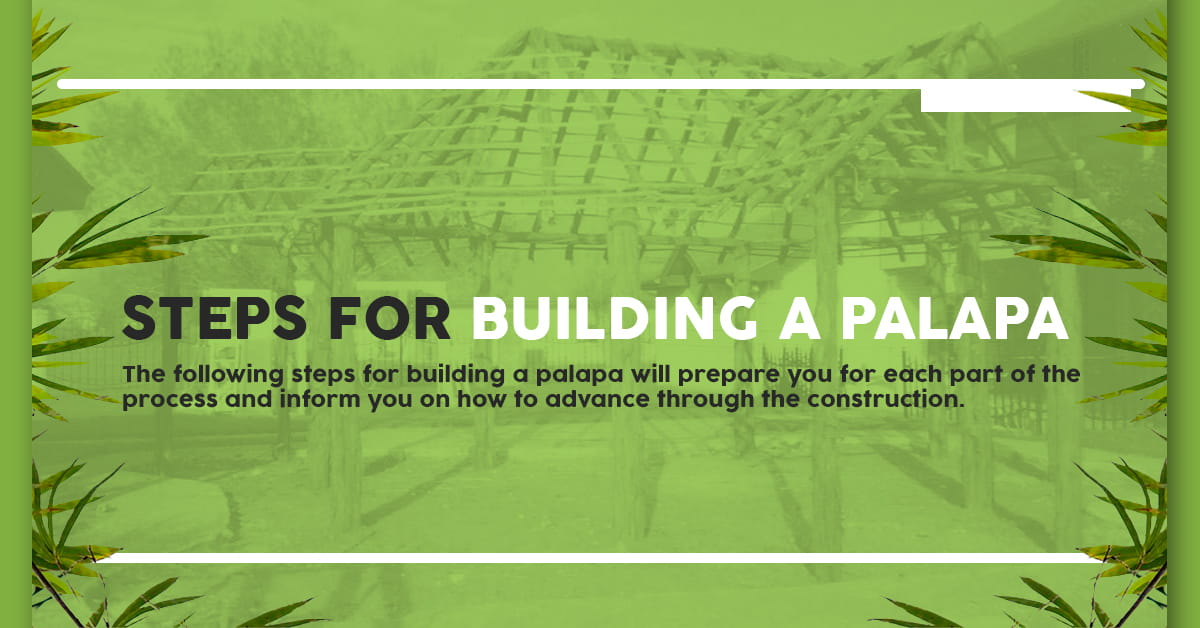 how to build a palapa roof