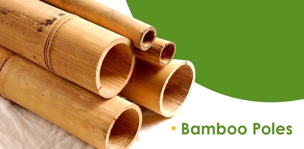 Decorating with bamboo poles indoors