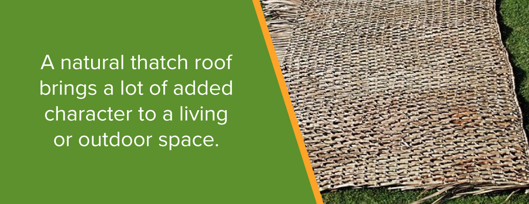 Add Character to Your Space With Thatch Roofing