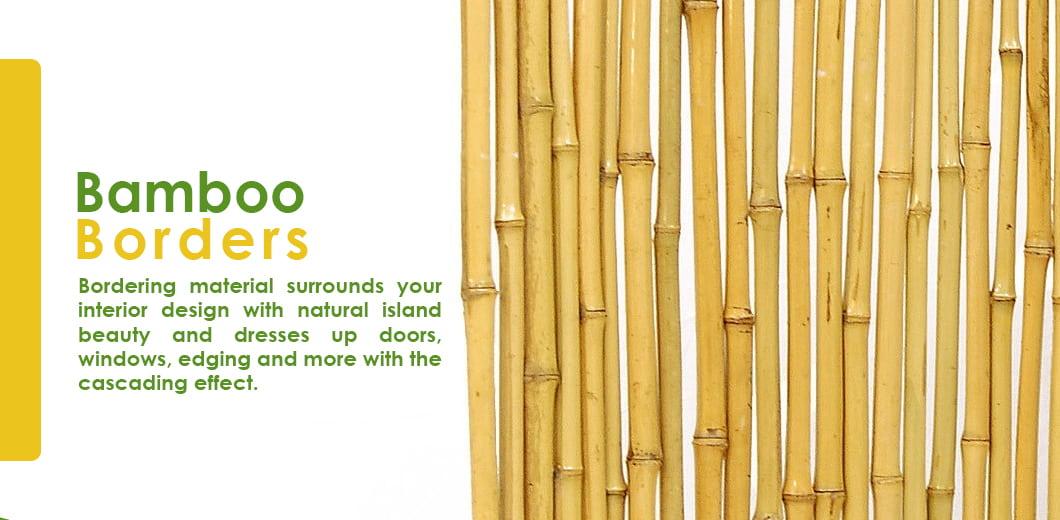 DIY indoor bamboo border