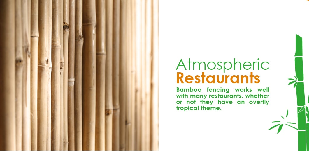Bamboo restaurant decor