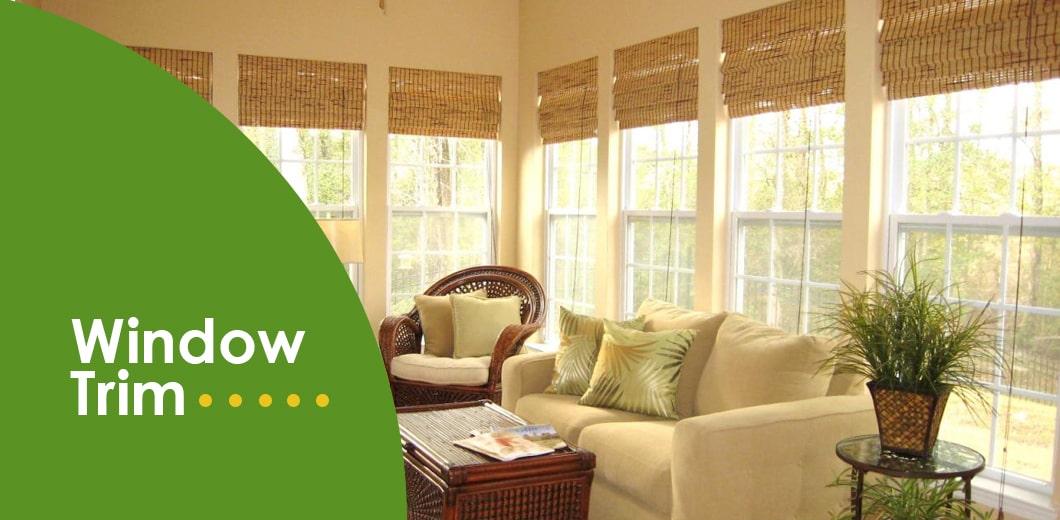 DIY bamboo window trim