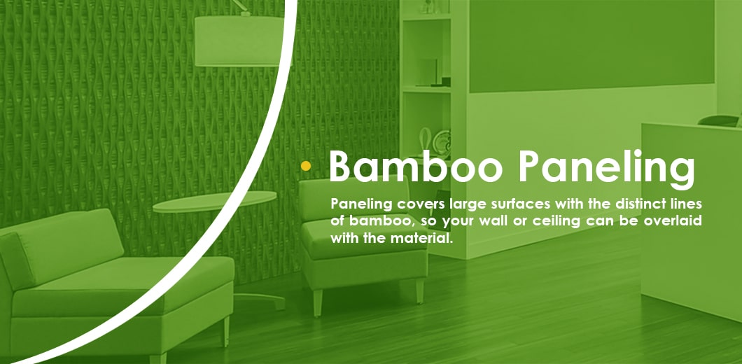 Decorating with bamboo paneling
