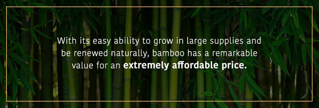 How expensive is bamboo? Affordable cheap bamboo fencing