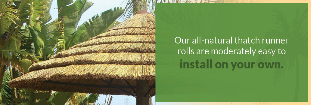 Natural thatch installation