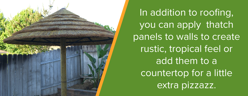 Apply Thatch Panels to Walls