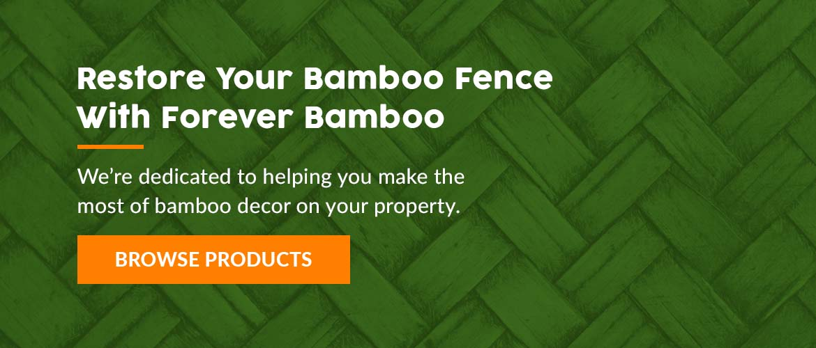 Restore Your Bamboo Fence With Forever Bamboo