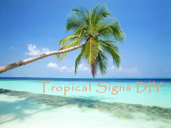diy tropical decor tiki signs